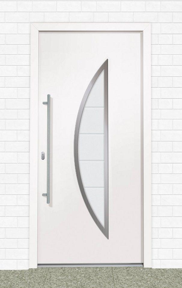 Roro Kunststoff-Haustür »A909« BxH: 110 x 210 cm, weiß in weiß