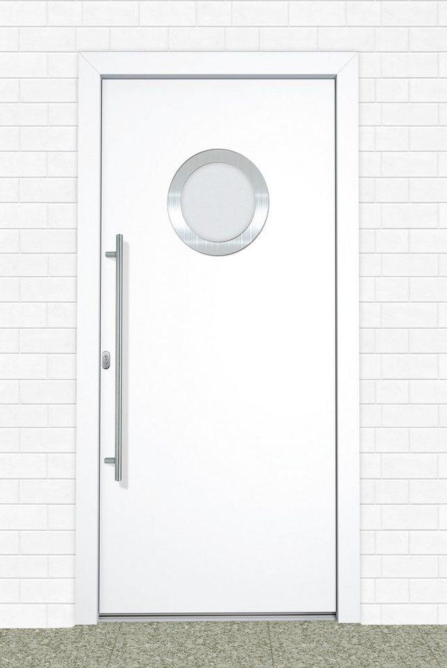 Kunststoff-Haustür »A908« BxH: 100 x 210 cm, weiß in weiß
