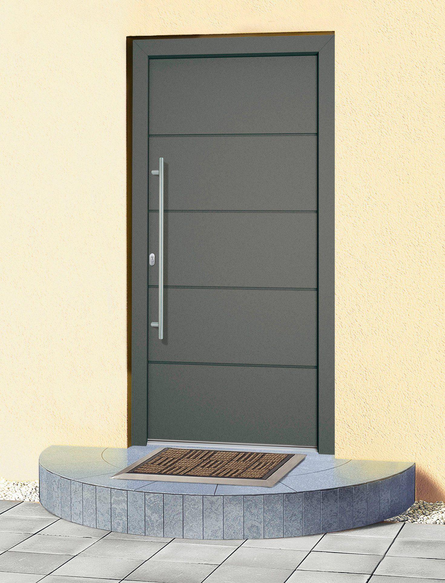 Fantastisch RORO Aluminium-Haustür »Schweiz«, anthrazit, nach Wunschmaß  PZ04
