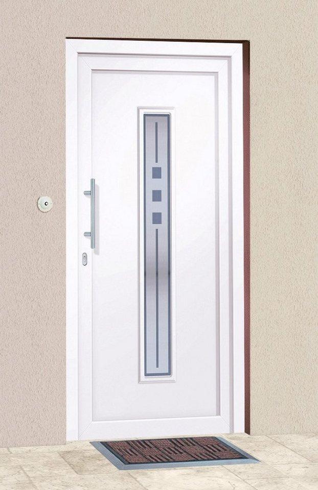 Kunststoff-Haustür »Mexico« BxH: 100 x 210 cm, weiß in weiß