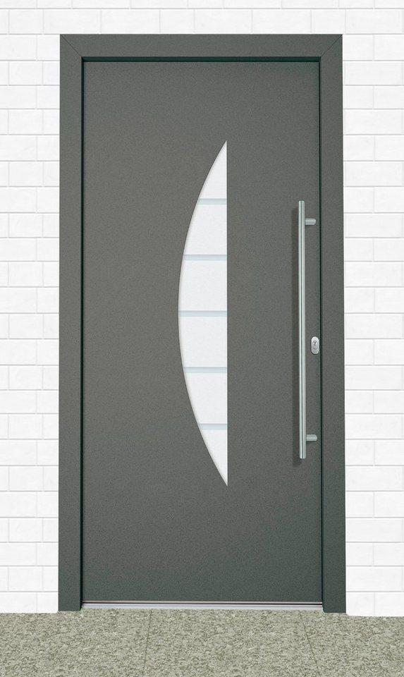 Aluminium-Haustür »Malta« BxH: 110 x 210 cm, anthrazit in anthrazit