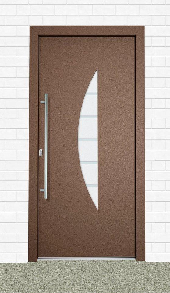 Aluminium-Haustür »Malta« Tür nach Maß, braun in braun