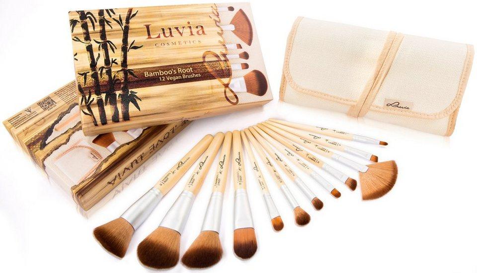 Luvia Cosmetics, »Bamboo's Root«, Veganes Kosmetikpinsel-Set mit 12 Pinseln und Aufbewahrungstasche