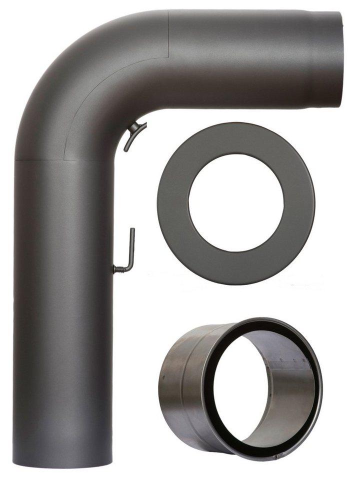 Rauchrohr »Set Fullform in Grau«, Ø 150 mm, Ofenrohr für Kaminöfen in grau