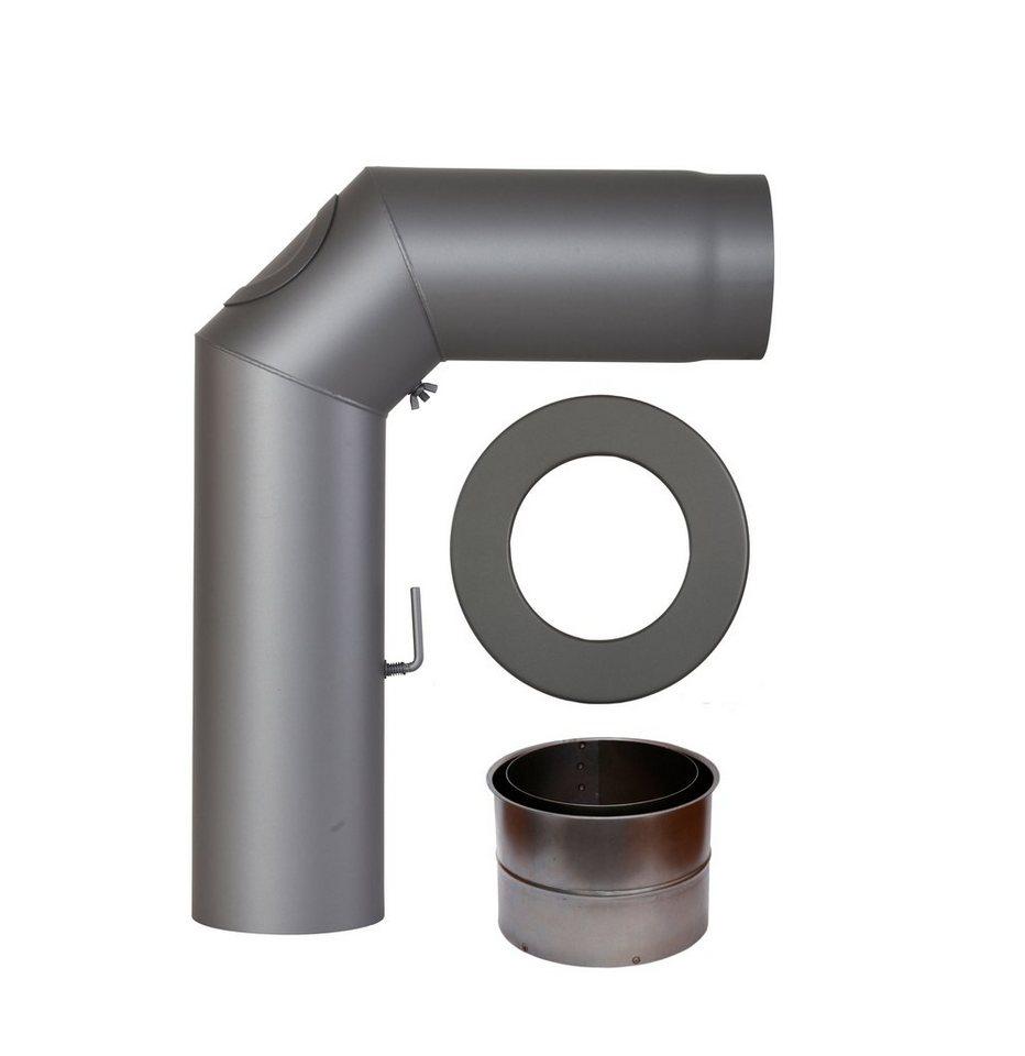 Rauchrohr »Set geschweißt in Grau«, Ø 150 mm, Ofenrohr für Kaminöfen in grau