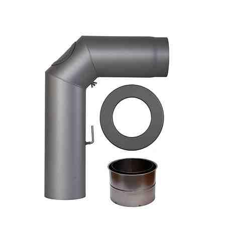 Rauchrohr »Set geschweißt in Grau«, Ø 150 mm, Ofenrohr für Kaminöfen