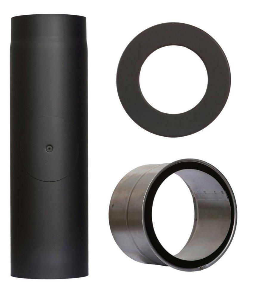 Rauchrohr »Set 350 mm Länge in Schwarz«, Ø 130 mm, Ofenrohr für Kaminöfen in schwarz