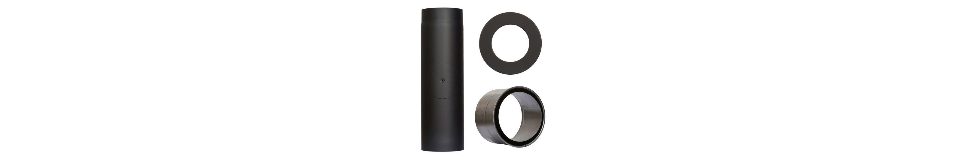 Rauchrohr »Set 350 mm Länge in Schwarz«, Ø 130 mm, Ofenrohr für Kaminöfen
