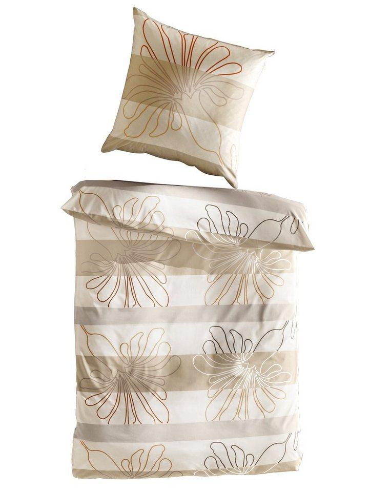 Designer-Bettwäsche in beige/natur