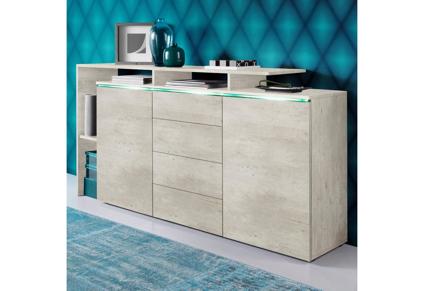 sideboard weiss sonstige preisvergleiche. Black Bedroom Furniture Sets. Home Design Ideas