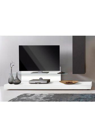 LC TV lentyna su stiklinės lentynėlės