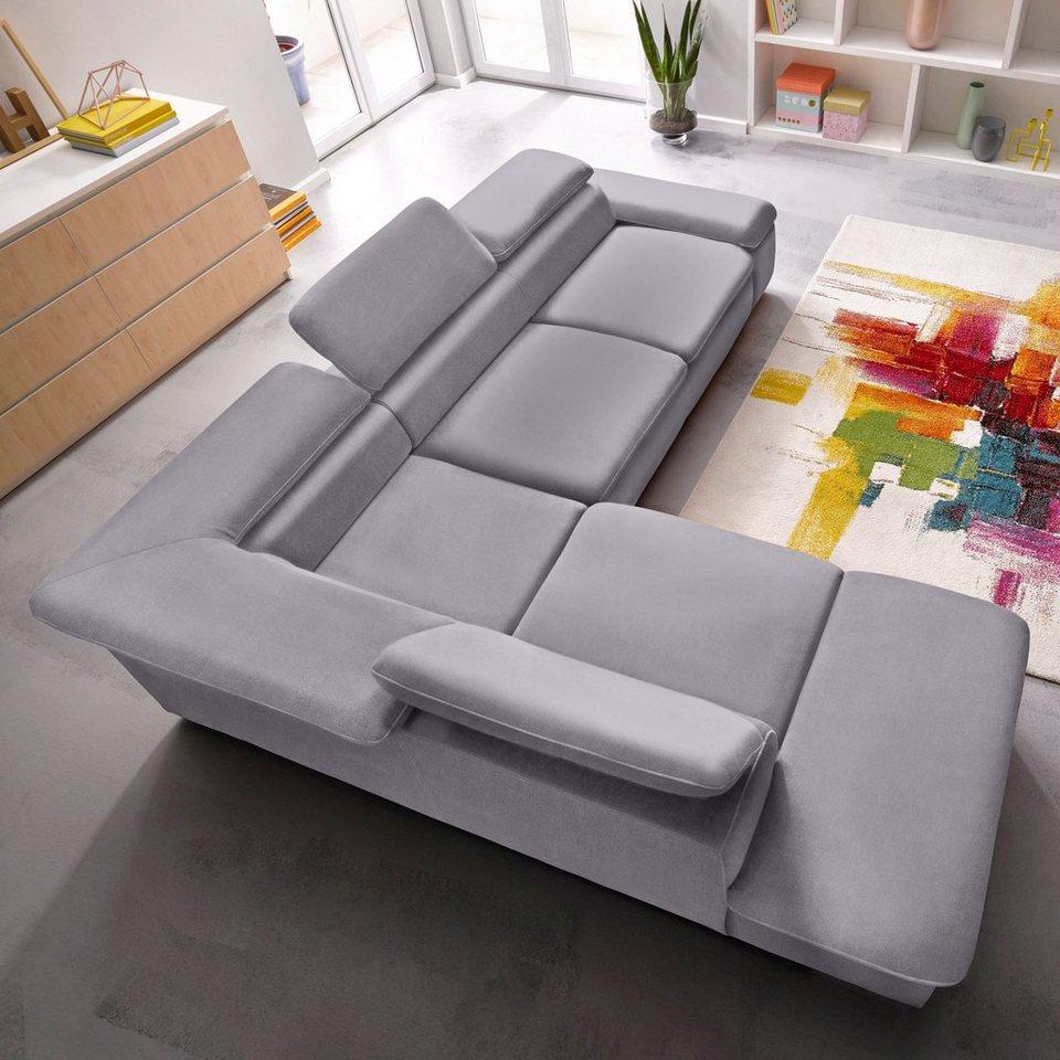 Sit&More Polsterecke, wahlweise mit Bettfunktion in grau