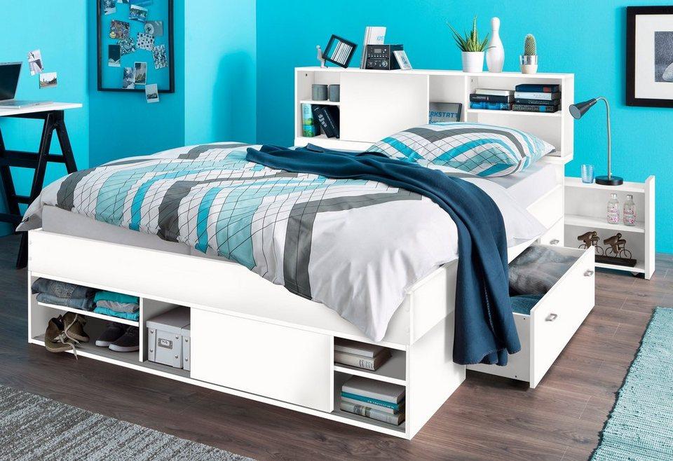 breckle stauraumbett bett mit zahlreichen. Black Bedroom Furniture Sets. Home Design Ideas