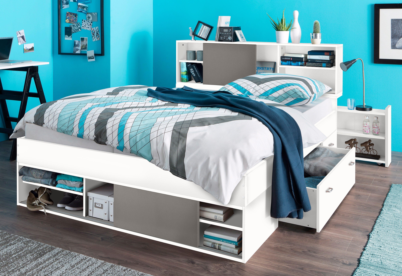 Bett mit stauraum saveni u  cm günstig kaufen durchgehend