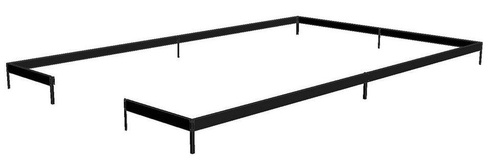 Fundamentrahmen »Gärtner 16,1« in schwarz