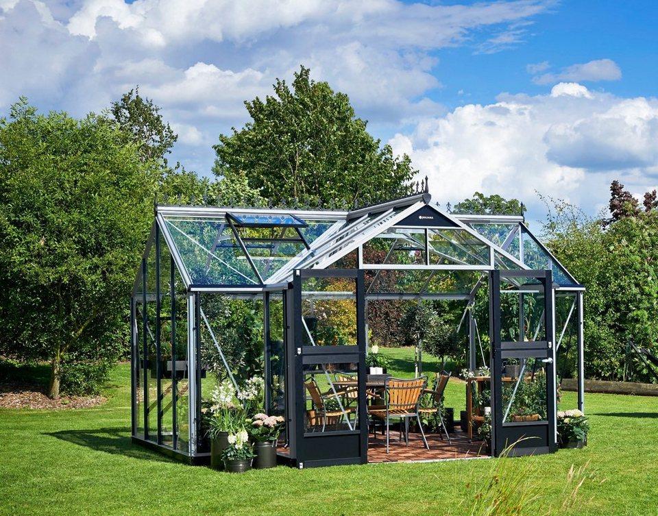Juliana Gewachshaus Orangerie Bxt 439x296 Cm Silberfarben