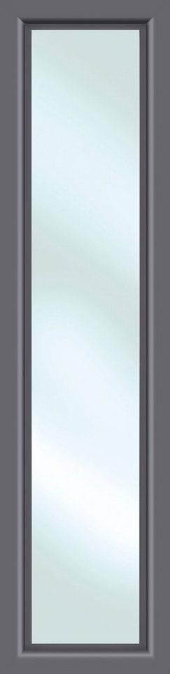 KM MEETH ZAUN GMBH Seitenteile »S01«, für Alu-Haustür, BxH: 60x198 cm, anthrazit in grau