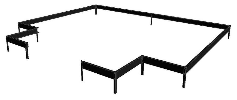 Fundamentrahmen »Orangerie«, BxL: 439x296 cm, schwarz in schwarz