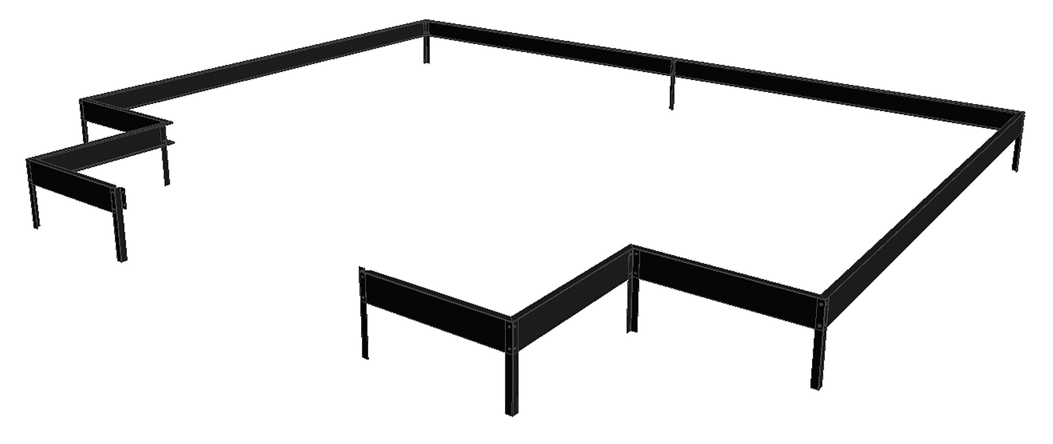 JULIANA Fundamentrahmen »Orangerie«, BxL: 439x296 cm, schwarz