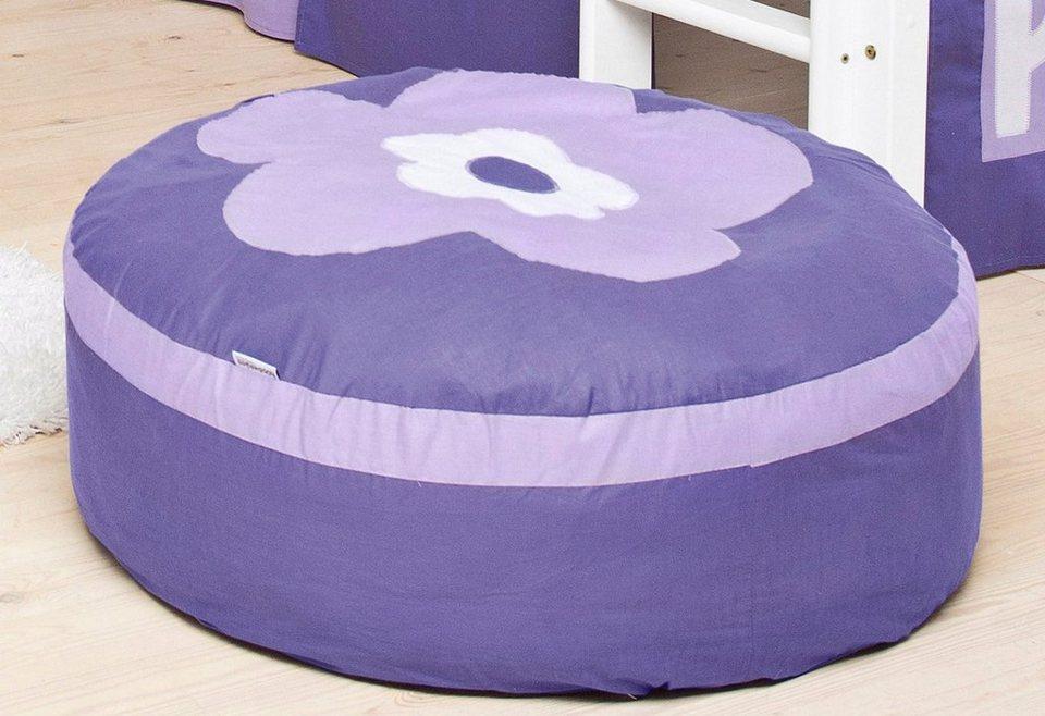 Hoppekids Sitzsack »Purple Flower« in lila