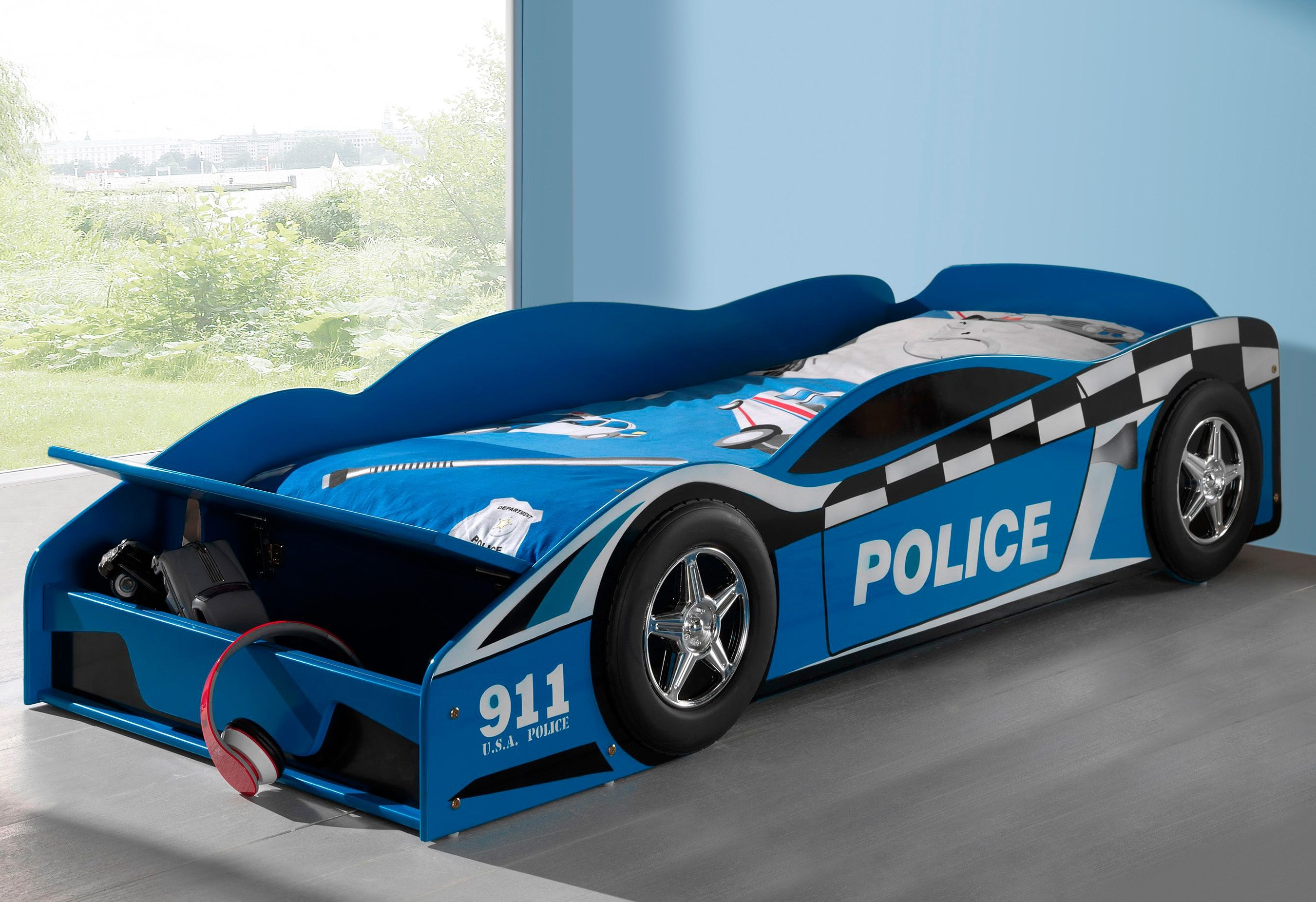 Vipack Furniture Bett in Policecar-Optik