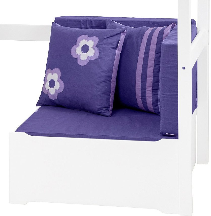 Hoppekids Sofabett »Purple Flower«, ausziehbar in lila