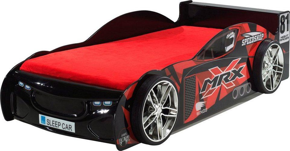 Vipack Furniture Bett in Rennwagenoptik in rot