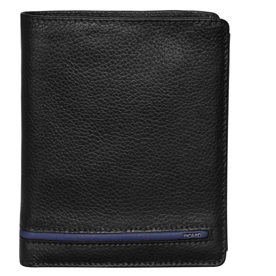 Picard Luca Geldbörse Leder 10 cm in schwarz