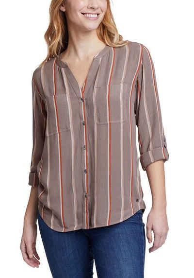 Eddie Bauer Longbluse Rivierah Shirt - langarm mit Y-Ausschnitt