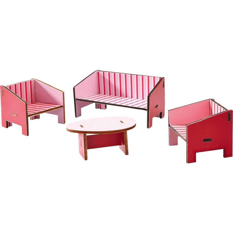 Haba 300507 Puppenhaus Little Friends Möbel Wohnzimmer