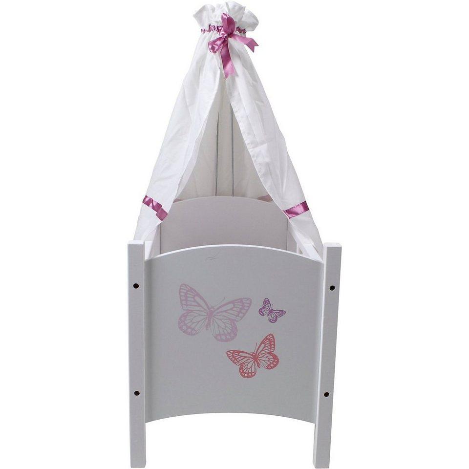 KNORRTOYS.COM EXKLUSIV Schmetterling Puppenhimmelbett weiß