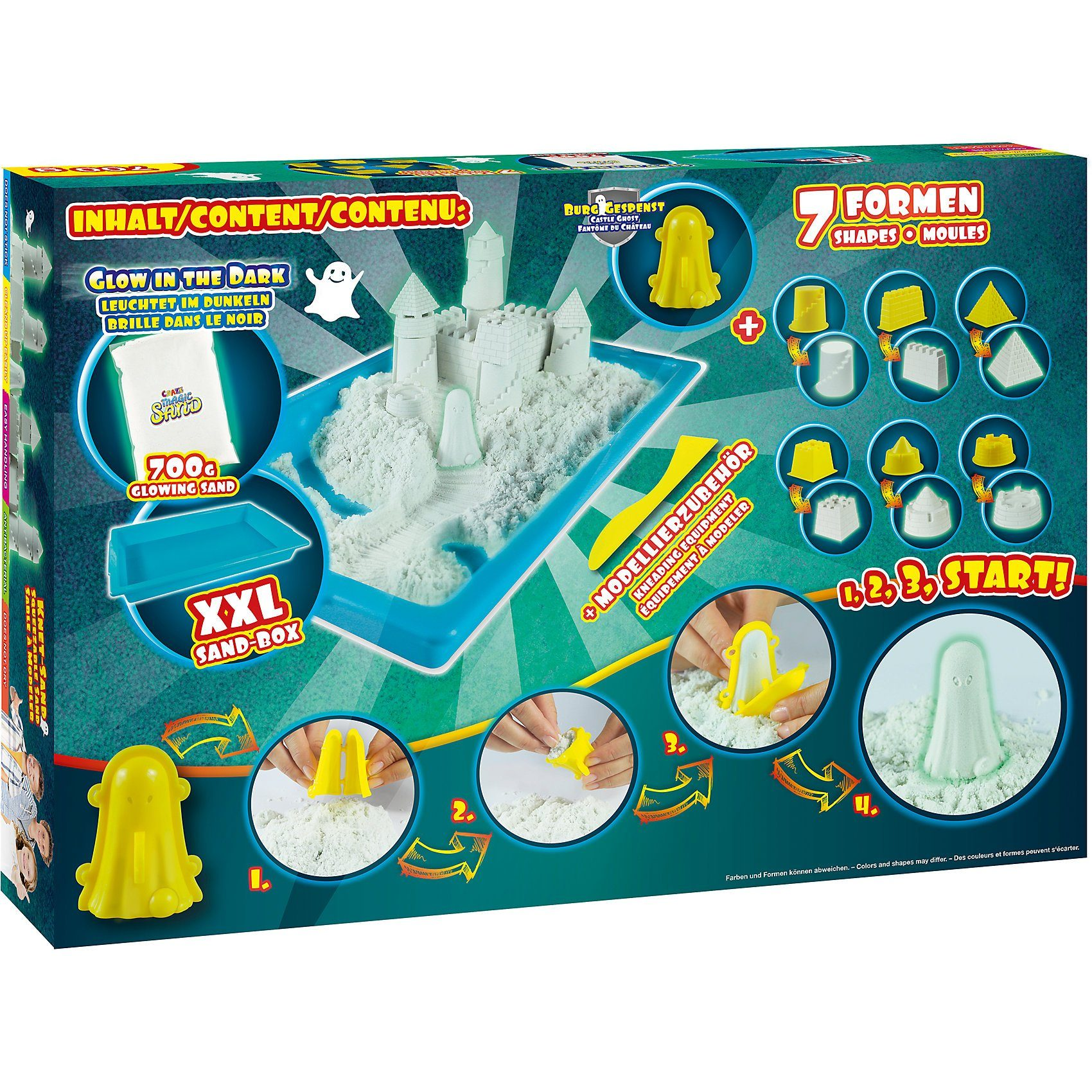 CRAZE Magic Sand Castle Box - Glow in the Dark