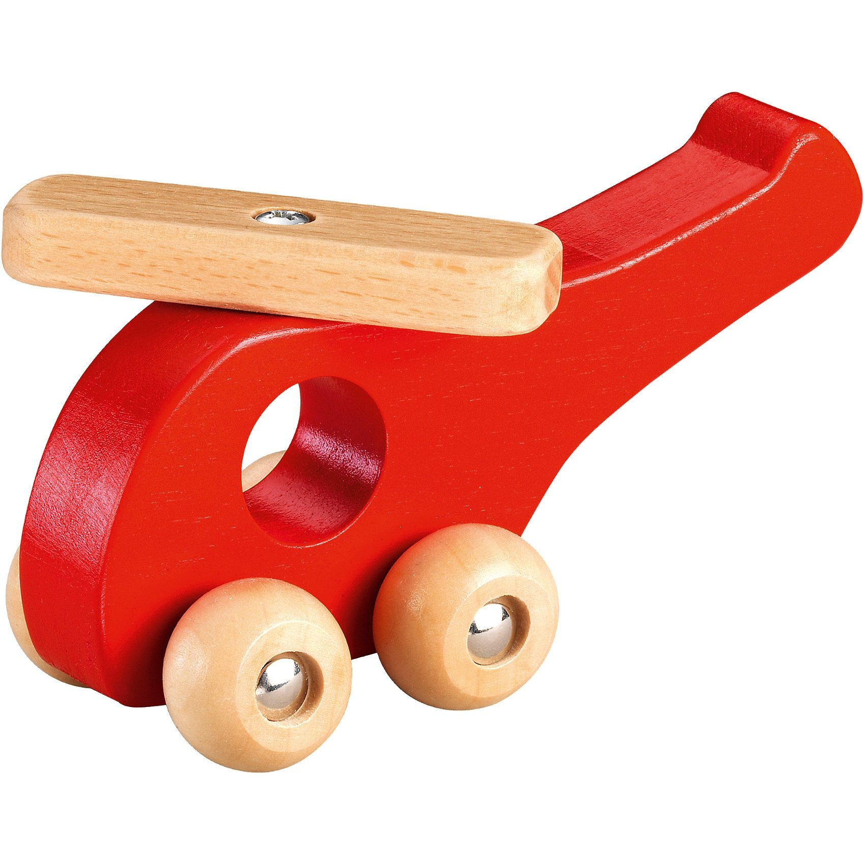 fashy Holz-Hubschrauber, rot