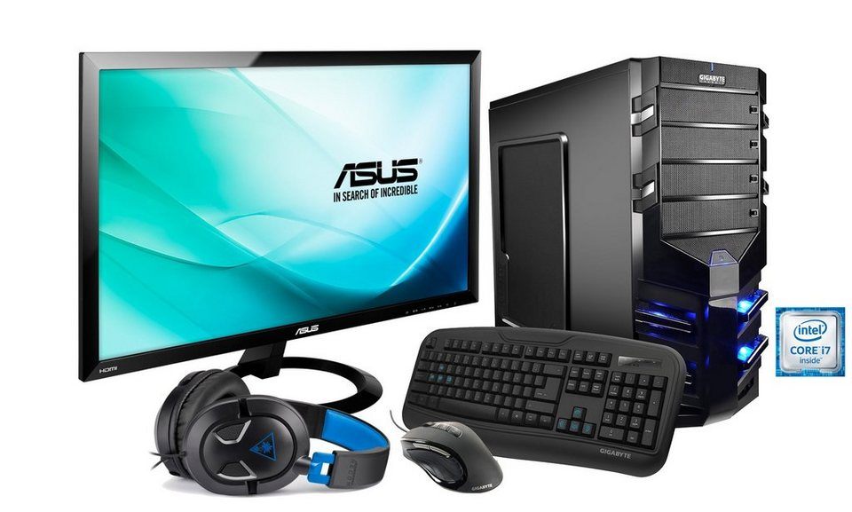 hyrican gaming pc set intel i7 6700 geforce gtx 960 4gb. Black Bedroom Furniture Sets. Home Design Ideas