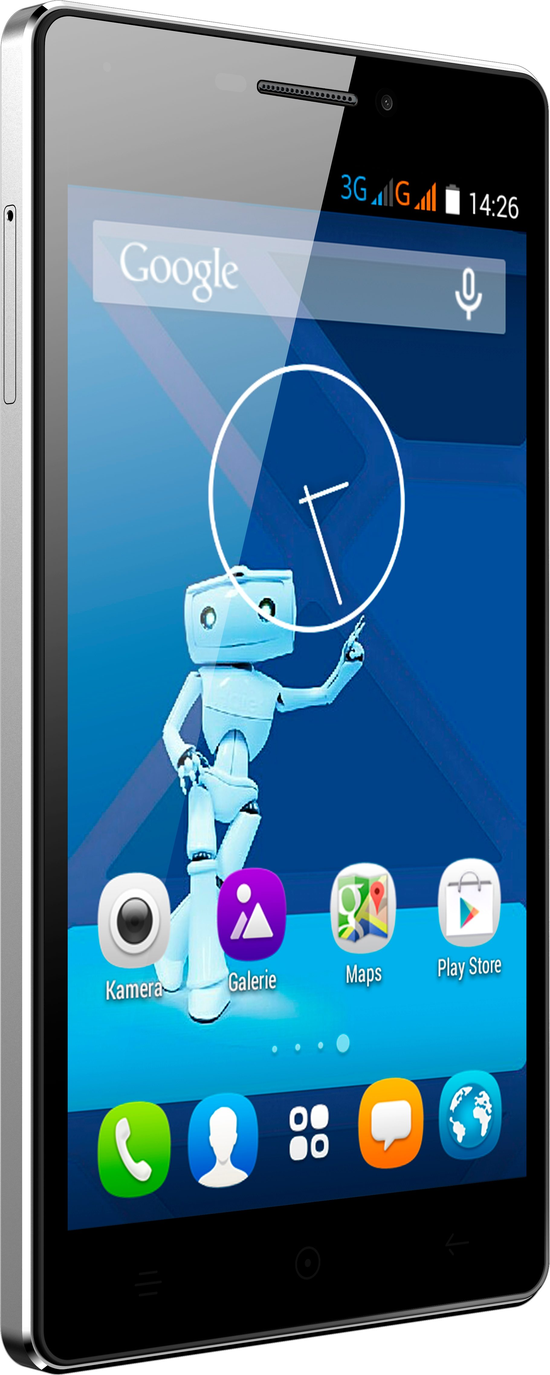 Haier Voyage V3 Smartphone, 13 cm (5 Zoll) Display, Android 4.4, 13,0 Megapixel