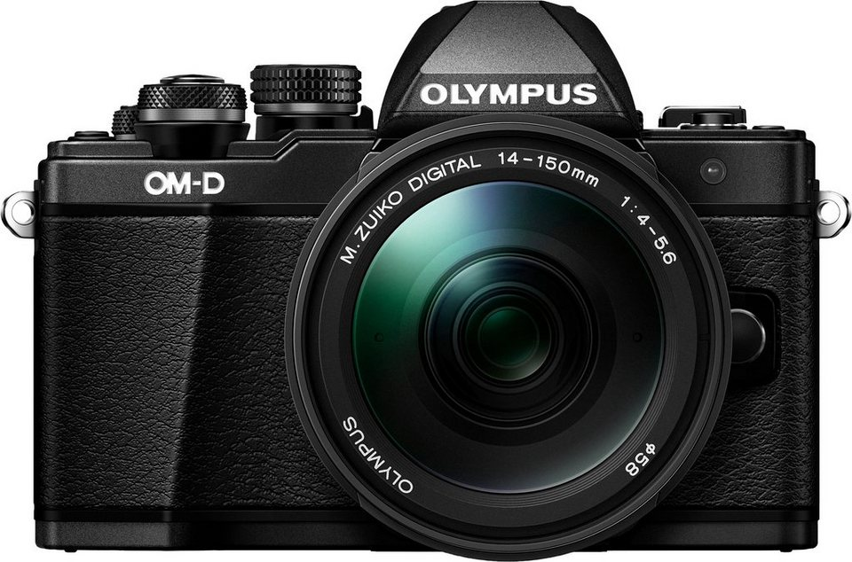 Olympus E-M10 OM-D Kit 14-150mm II System Kamera, M.Zuiko ED 14-150mm f4.0-5.6 II Zoom in schwarz