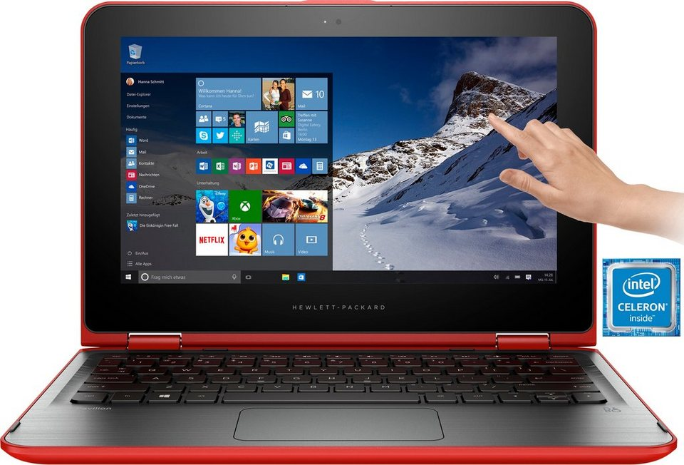 hp pavilion x360 touch convertible notebook intel. Black Bedroom Furniture Sets. Home Design Ideas