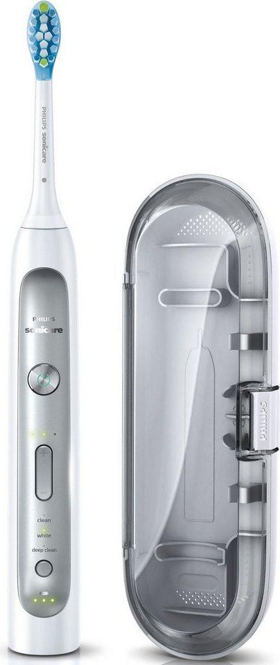 Philips Sonicare Schallzahnbürste FlexCare Platinum HX9111/20, mit Reiseetui in platin-grau