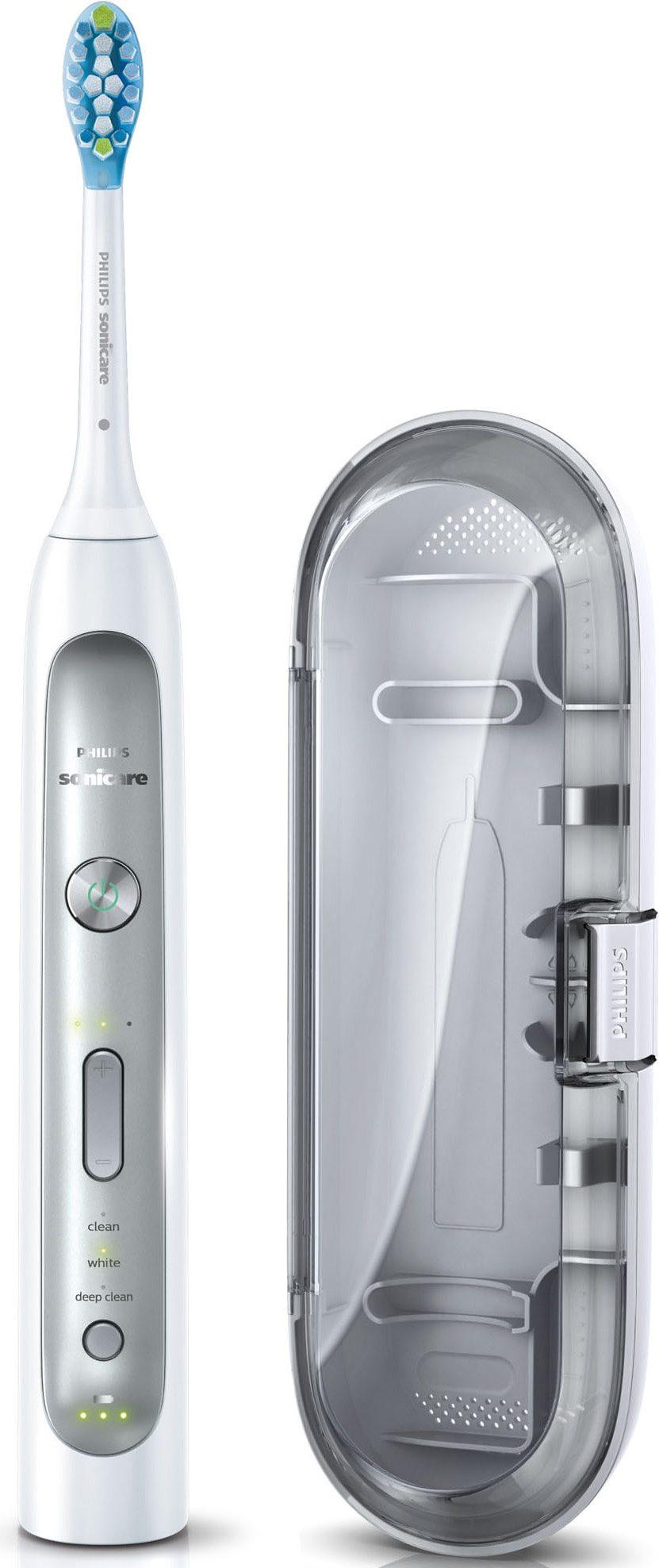 Philips Sonicare Schallzahnbürste FlexCare Platinum HX9111/20, mit Reiseetui