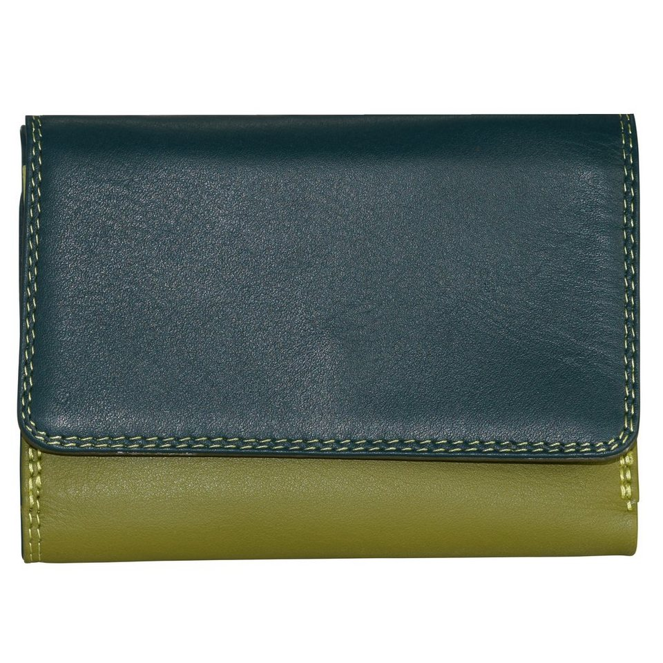 Mywalit Medium Tri-fold Wallet Geldbörse Leder 11 cm in evergreen