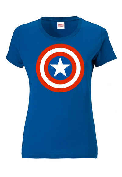 LOGOSHIRT T-Shirt »Print Marvel Comics Captain America« mit lizenzierten Print