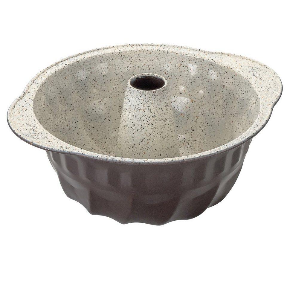 Genius® Backform Gugelhupf, Keramikbeschichtung, »Cerafit Bakery« in außen dunkelbraun, mit marmorierter cremefarbener Innenbeschichtung