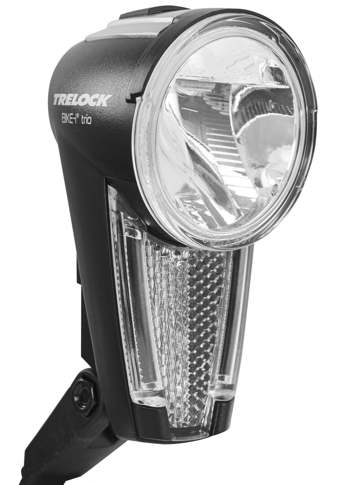 Trelock Fahrradbeleuchtung »LS 875 trio Frontscheinwerfer schwarz«