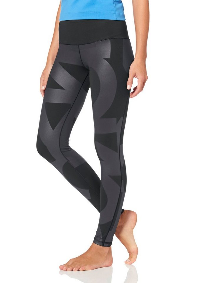 adidas Performance WORKOUT HIGH RISE LONG TIGHT Funktionstights in Schwarz