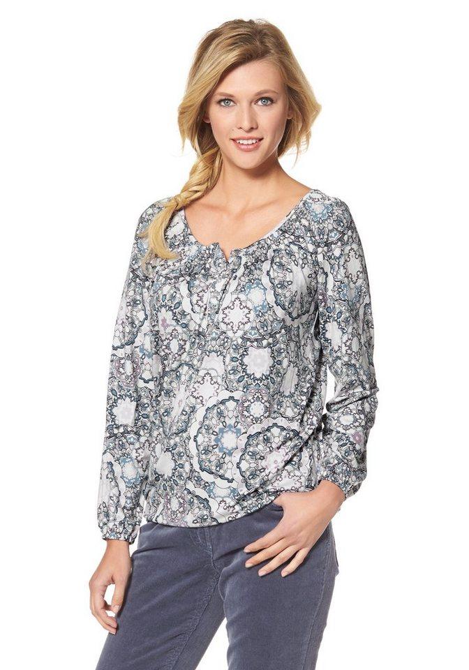 Cheer Langarmshirt mit elastischen Abschlüssen in weiß-hellblau-rosé