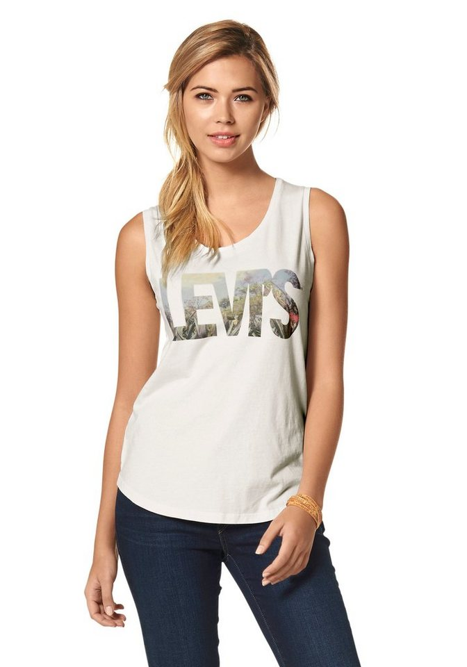 Levi's® Tanktop mit Logo-Print in wollweiß