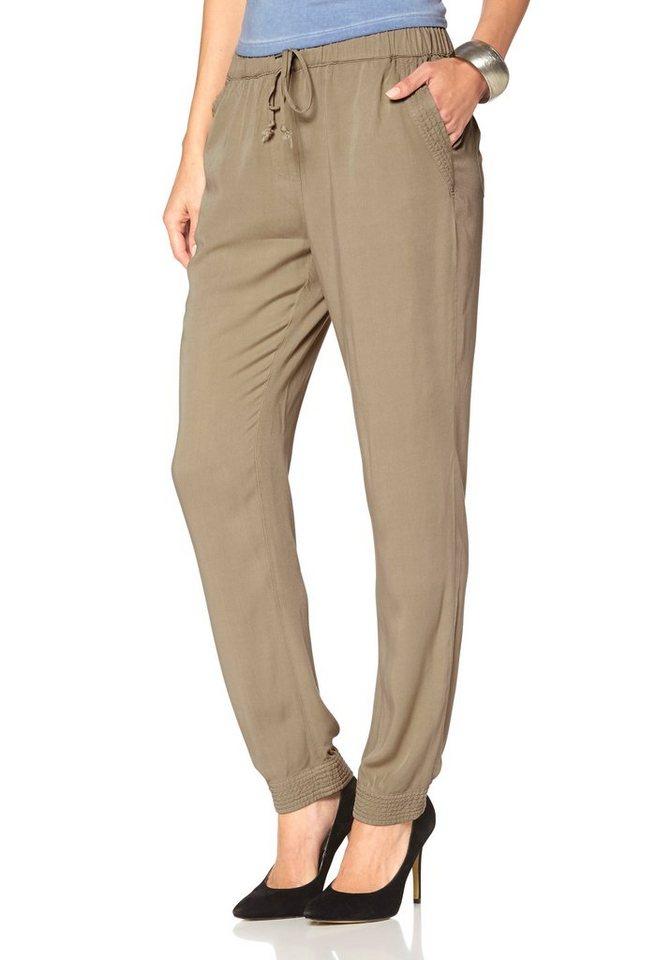 Laura Scott Haremshose komfortable Loose-Fit-Pants in beige