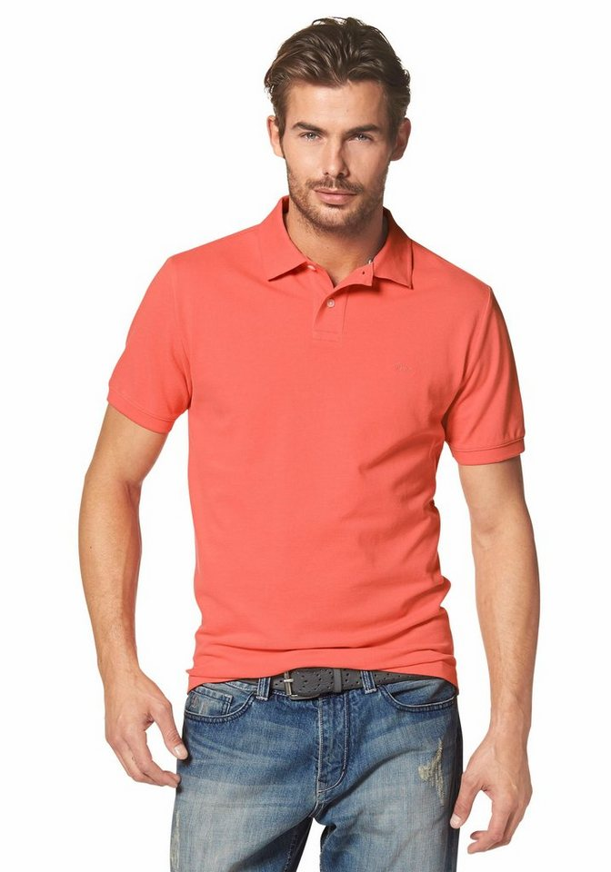 s.Oliver RED LABEL Poloshirt Piqué in orange