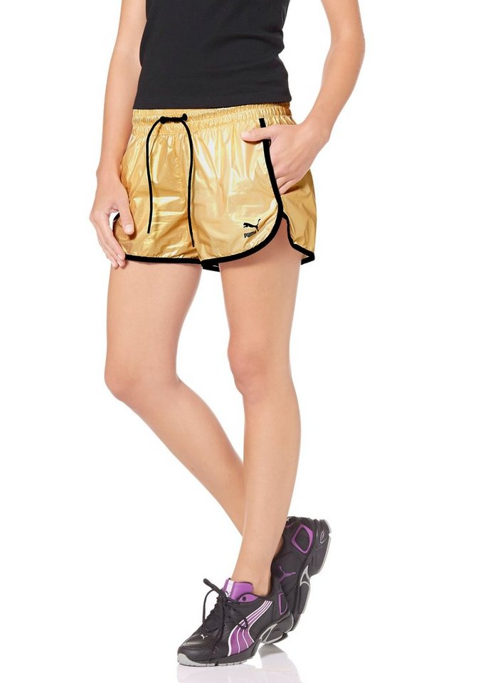 PUMA Shorts in Goldfarben