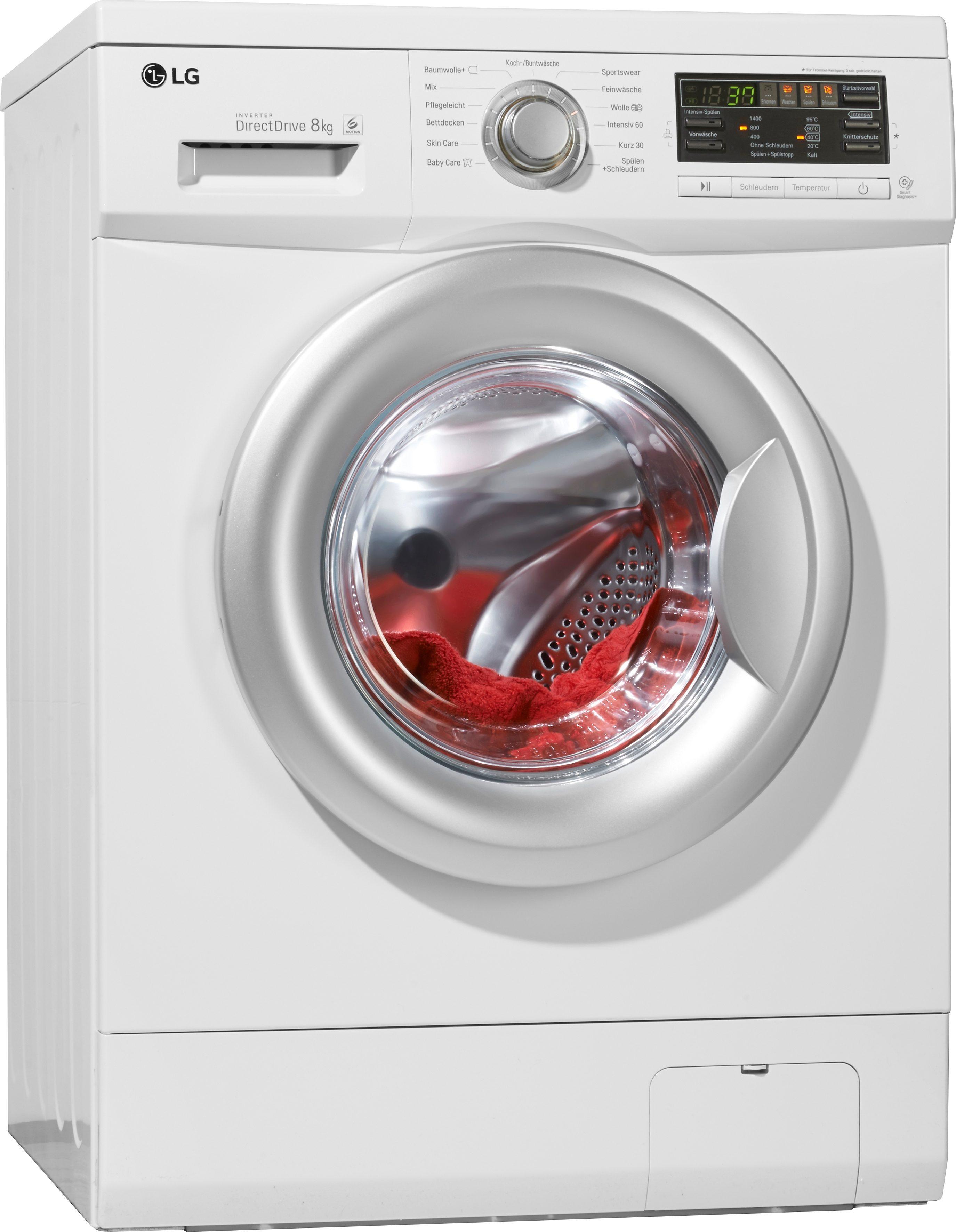 LG Waschmaschine F 14B8 TDA7H, A+++, 8 kg, 1400 U/Min